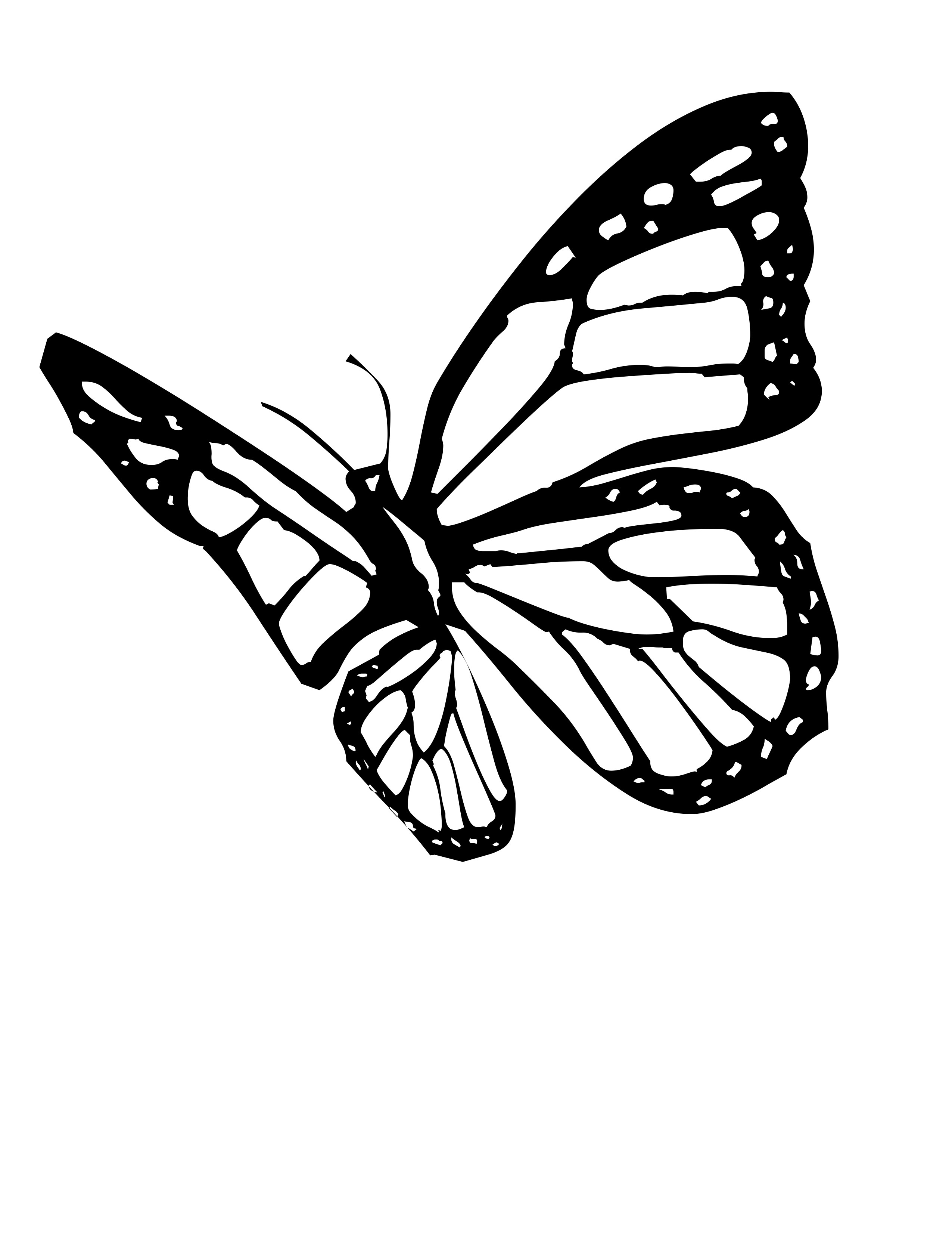 Butterfly coloring pages for Monarch butterfly coloring page