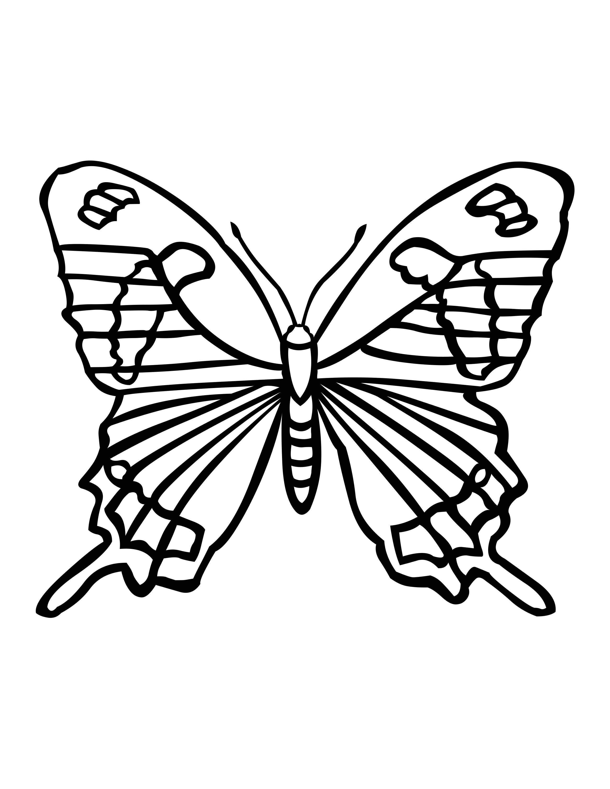 butterfly garden kit coloring pages - photo#29